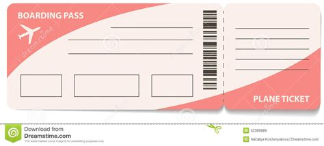 Air Ticket Stock Vector Illustration Of Symbol Plane 52389989 Plane Ticket Template