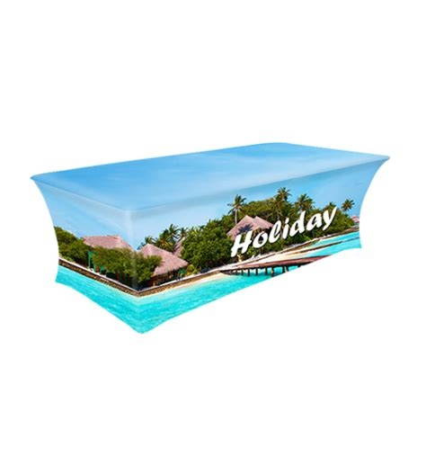 stretch table covers trade show table covers custom runners dxp display