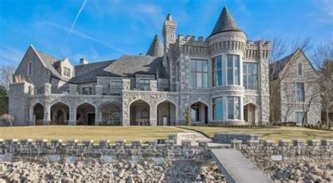 Outdoor Wet Bar 18 000 square foot lakefront stone mansion in kansas city