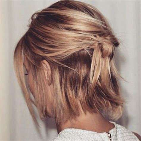 hairstyles down short 25 best ideas about short hair ponytail on pinterest