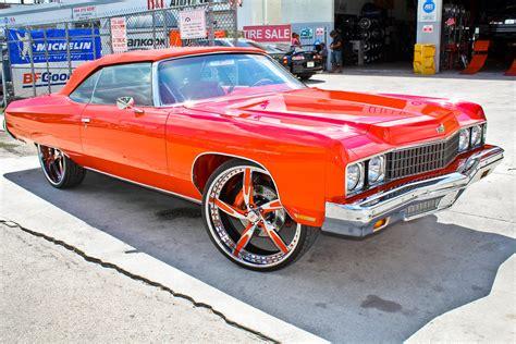 1973 chevy impala donk rapper rick ross s 1973 impala donk big rims custom wheels