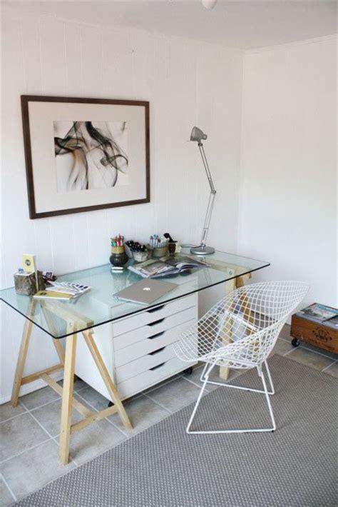 small home office design ideas glass desk  lovely