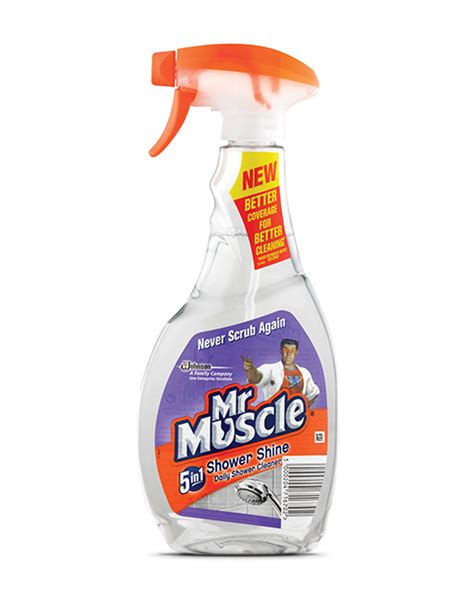 mr muscle 5 in 1 bathroom cleaner shower shine mr muscle