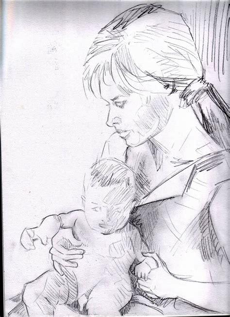 imagenes a lapiz para una madre boceto madre e hijo i 241 igo telleria artelista com