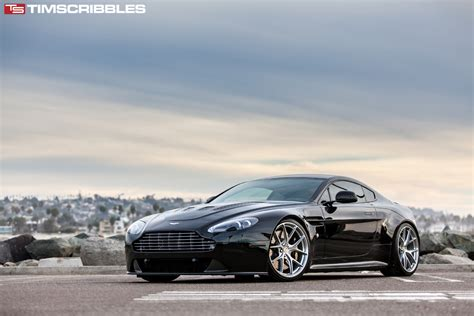 custom aston martin vantage aston martin v12 vantage with hre p101 in brushed tinted