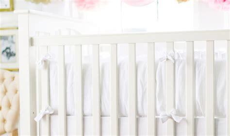 White Bumper Pads For Crib by Linen White Crib Bumper White Crib Bumper Pads Neutral