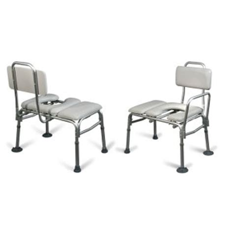 transfer bench with commode opening aquasense padded transfer bench w commode opening hme