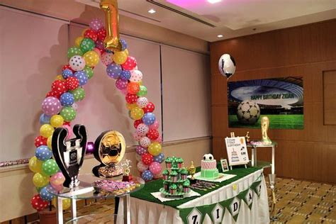 football theme birthday celebration   sons st birthday zidan picture  novotel dubai al