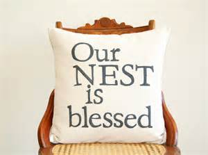 our nest is blessed decorative pillow cover 18 x