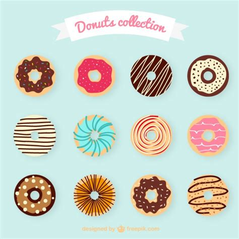 Premium Donut donuts collection vector premium