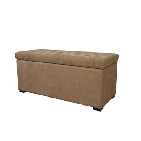avenue six ottoman avenue six sahara tufted storage bench in beige modern