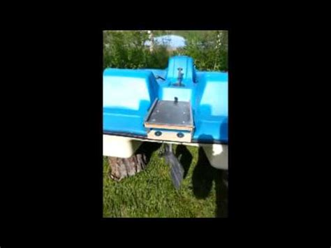 pedal boat trolling motor trolling motor mounted on paddle pedal boat youtube