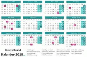 Kalender 2018 Mit Feiertagen Kalender 2018 Mit Feiertagen Ferien