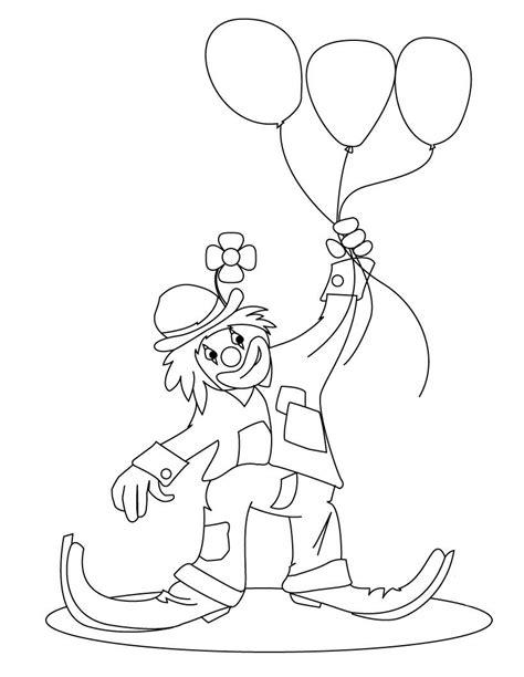 dibujos infantiles para colorear de payasos payaso con globos para colorear e imprimir
