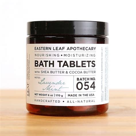 lavender mint bath tablets