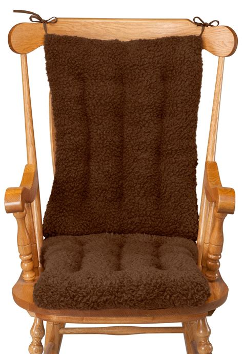 Rocking Chair Cushion Set by Sherpa Rocking Chair Cushion Set By Oakridge Comfortstm Ebay