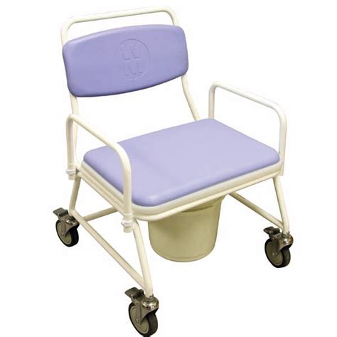 Large Commode Chair by Birstall Bariatric Mobile Commode With Large Seat