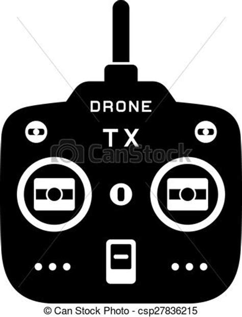rc drone quadcopter tx transmitter black icon