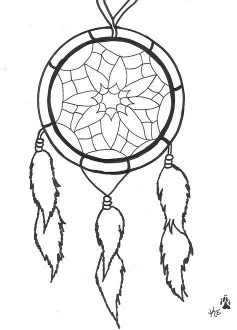 dreamcatcher template catcher coloring template coloring pages