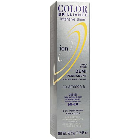 what demi permanent hair color is good for african american hair ion color brilliance intensive shine 6n dark natural