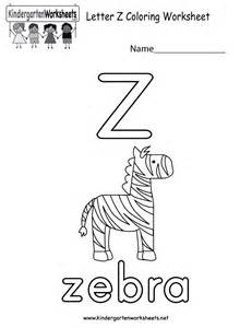 free printable letter z coloring worksheet for kindergarten