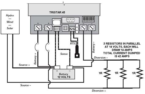 resistor heater circuit using a high power resistor as a dump load hugh piggott s