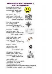 worksheet irregular verbs song activity