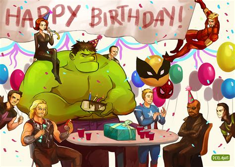 printable birthday card avengers avengers greeting card happy birthday on storenvy