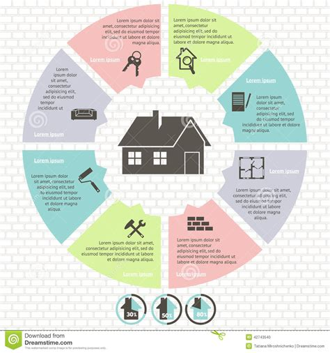 real estate infographic set vector illustration stock