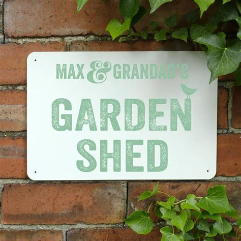Personalised Signs For Sheds by Personalised Shed Metal Sign By Delightful Living