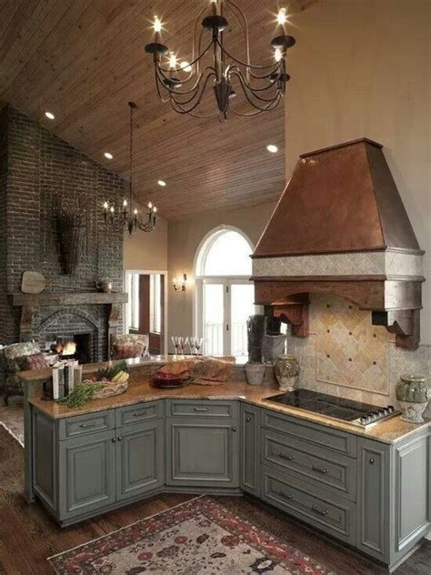 kitchen fireplace design ideas 20 ways to create a country kitchen