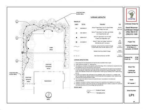 Landscape Lighting Plans Lighting Plan From David Moorman Landscape Design In Victorville Ca 92394