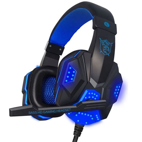 Headset Gaming Imperion G40 Led Light new soyto stereo surrounded bass led light gaming headphone headset ear earphone with