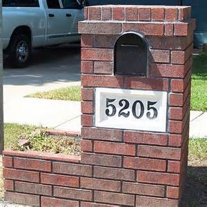 brick mailbox designs brick phone picture