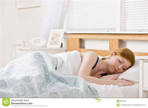 woman sleeping in bed woman sleeping in bed stock image image 6601851