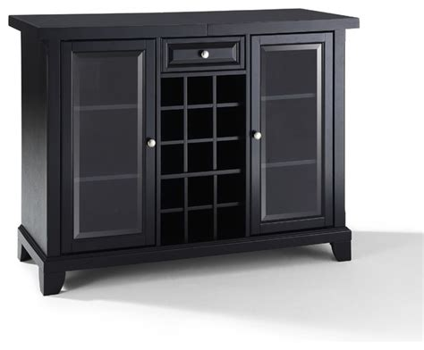 Sliding Top Bar Cabinet by Newport Sliding Top Bar Cabinet In Black Finish