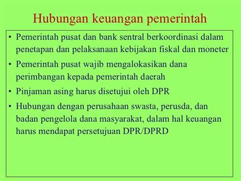 Hubungan Keuangan Antara Pemerintah Pusat Daerah 01 tinjauan umum governance pengelolaan keuangan negara