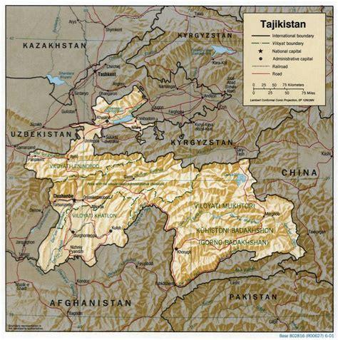 map of tajikistan tajikistan climate map images