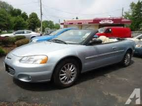 2002 Chrysler Sebring Convertible For Sale 2002 Chrysler Sebring Convertible V6 Auto 75k Mi For