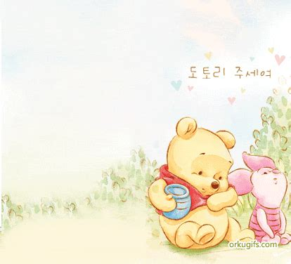 baby pooh eating honey images  messages