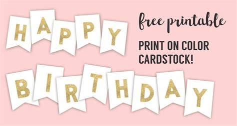 Happy Birthday Banner Printable Template Paper Trail Design Free Printable Happy Birthday Banner Templates