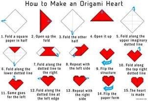 How To Make Paper Hearts Easy - how to make an origami step by step easy
