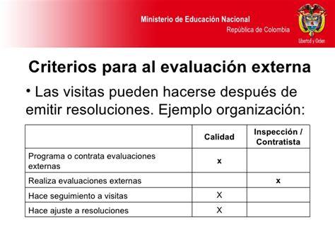 ministerio de educacion cada ano habra evaluaciones de ascenso de la evaluacion institucional para el men
