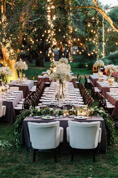 Backyard Country Wedding Ideas by 18 Stunning Wedding Reception Decoration Ideas To