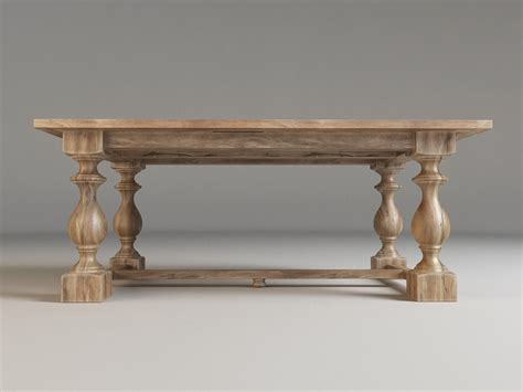restoration hardware monastery dining table 17th c monastery dining table free 3d model max fbx