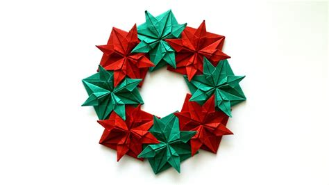 How To Make A Origami Wreath - how to make an origami wreath