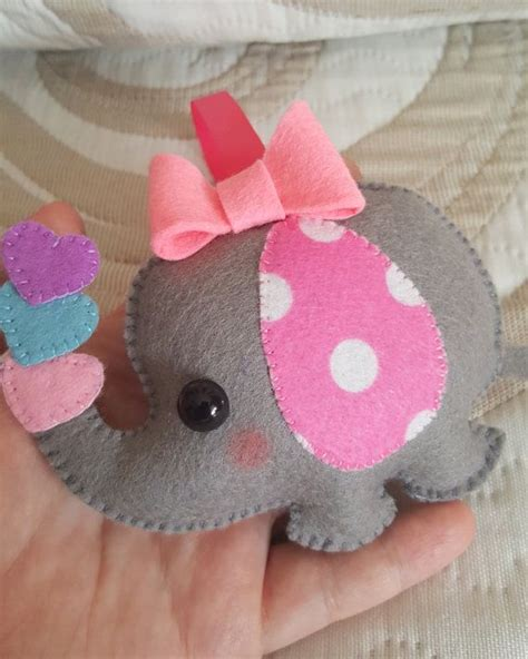 pattern for felt animals pdf pattern elephant baby girl animal ornament by