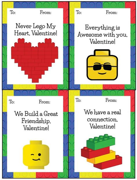 printable lego card lego valentines free printables free printable cards