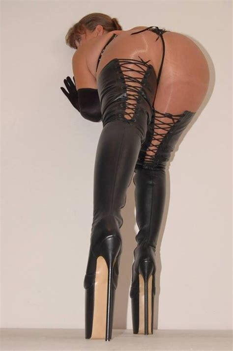 boots and g string high heels g