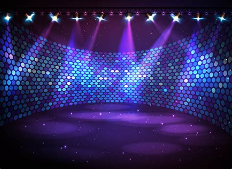 stage background vector blue and purple glare reception stage background